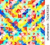 abstract 1980 memphis geometric ...   Shutterstock .eps vector #762692341