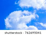 white clouds and blue sky with... | Shutterstock . vector #762695041