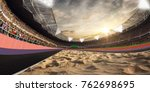 stadium and fans. track for... | Shutterstock . vector #762698695