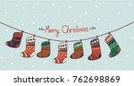 merry christmas card | Shutterstock .eps vector #762698869
