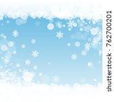 new year frame on blue...   Shutterstock .eps vector #762700201