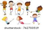 people doing different... | Shutterstock .eps vector #762703519