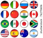 various country buttons over... | Shutterstock . vector #76270606