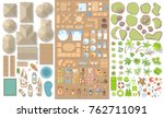 vector set. summer vacation.... | Shutterstock .eps vector #762711091