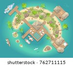 vector illustration. tropical... | Shutterstock .eps vector #762711115