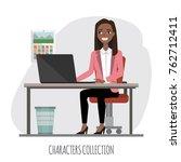 black african american... | Shutterstock .eps vector #762712411