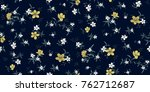 seamless floral pattern in... | Shutterstock .eps vector #762712687