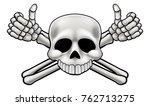 jolly roger pirate skull and...   Shutterstock .eps vector #762713275