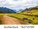 mountain valley road landscape | Shutterstock . vector #762715789