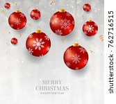 christmas background with red... | Shutterstock .eps vector #762716515