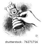 alice holds the white king  ... | Shutterstock .eps vector #76271716