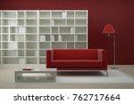 modern bright interiors. 3d...   Shutterstock . vector #762717664