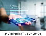 view of a stock exchange... | Shutterstock . vector #762718495