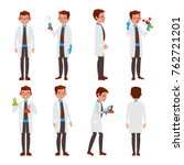 classic scientist. science... | Shutterstock . vector #762721201