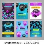 black friday set  coupons ... | Shutterstock .eps vector #762722341