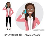 the black african american girl ... | Shutterstock .eps vector #762729109