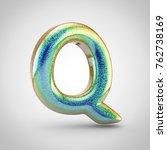 Glossy Glitering Letter Q...