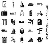 voyage spot icons set. simple... | Shutterstock .eps vector #762738601