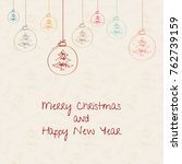 christmas and new year. vector...   Shutterstock .eps vector #762739159