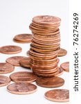 Pile Of Us Pennies