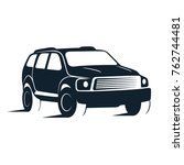 silhouette of car vector... | Shutterstock .eps vector #762744481