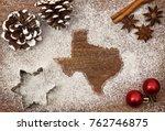 festive motif of flour in the... | Shutterstock . vector #762746875