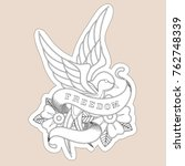 sketch of old school tattoo. a...   Shutterstock .eps vector #762748339
