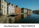 alesund historic city center ... | Shutterstock . vector #762749419
