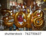 large group of xmas friends... | Shutterstock . vector #762750637