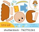 education paper game for... | Shutterstock .eps vector #762751261
