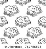 decorative clouds seamless... | Shutterstock .eps vector #762756535