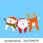 christmas tooth characters...   Shutterstock .eps vector #762759379