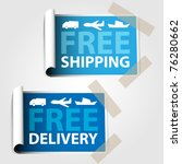 two blue labels   free shipping ...