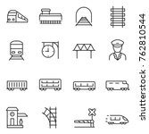 train and railways icon set.... | Shutterstock .eps vector #762810544
