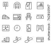 metro icons set. subway rapid... | Shutterstock .eps vector #762810547