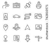 gps navigation system linear... | Shutterstock .eps vector #762810571