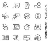 support service linear icons.... | Shutterstock .eps vector #762810871