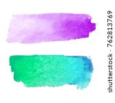 set of abstract stains. purple... | Shutterstock .eps vector #762813769