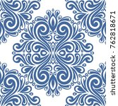 damask vector seamless pattern  ... | Shutterstock .eps vector #762818671