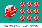 new year discount banner with... | Shutterstock .eps vector #762822595