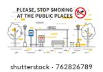 bus stop no smoking vector... | Shutterstock .eps vector #762826789
