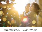 mother and daughter celebrate... | Shutterstock . vector #762829801
