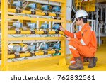 electrical and instrument site... | Shutterstock . vector #762832561