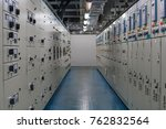 electrical switch gear room...   Shutterstock . vector #762832564