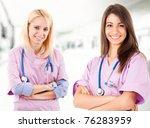 Two Young Nurses Portrait