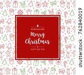 christmas icon elements card...   Shutterstock .eps vector #762840019