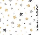 christmas stars seamless... | Shutterstock .eps vector #762840481