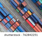 container container ship in... | Shutterstock . vector #762842251