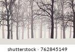 vector illustration of a winter ... | Shutterstock .eps vector #762845149