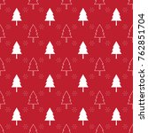 seamless pattern with christmas ... | Shutterstock .eps vector #762851704